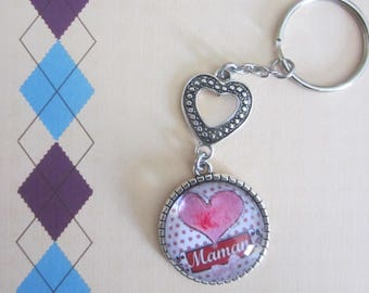 "Gift for MOM: ""MOM"" keychain"