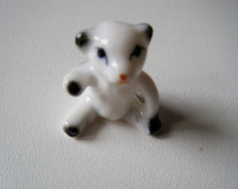 baby bear white porcelain for display or Doll House