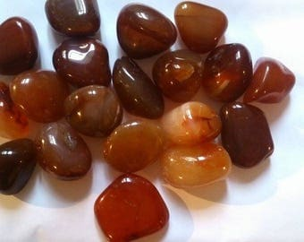approximately 3 cm 1 wrapped carnelian stone