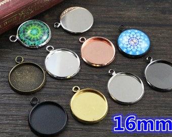BRONZE 16mm / 10 pendants 16 mm cabochon