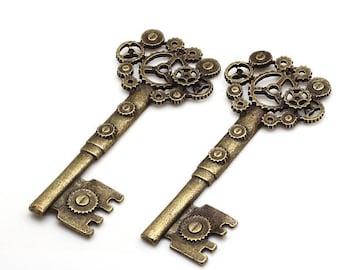 1 charm key steampunk 72 x 31 mm