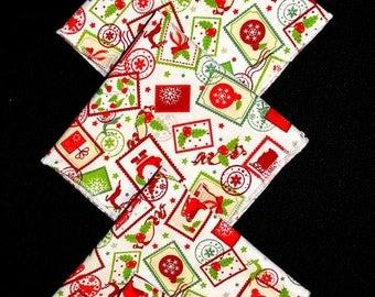 "SET of 5 handkerchiefs in fabric ""Christmas"""
