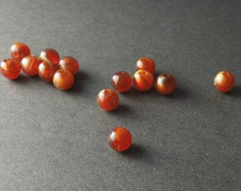 40 PEARLS 8MM BROWN ROUND BEADS