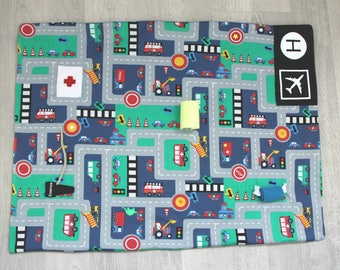 Play for children, the nomadic carpet, car circuit, to take everywhere with you and your travel bag
