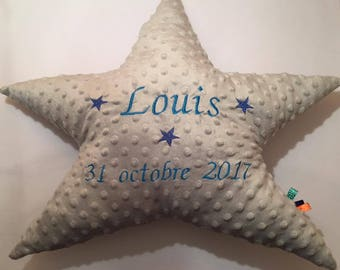 Birth gift customizable soft cushion for baby, child or room colours different shapes