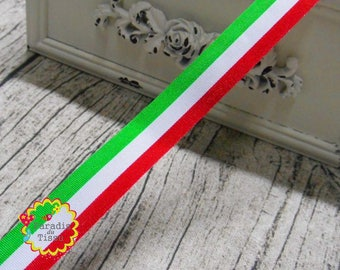 5 x 1.6 cm tricolor Ribbon braid meters Italian flag red white green