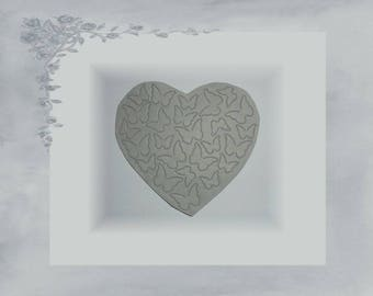Heart cut LPPO 0014 - Butterfly paper 220gr - medium grey
