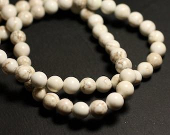 Stone - Magnesite beads 1 strand 39cm balls 12mm