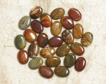 Bag 4pc - stone beads - oval 14x10mm 4558550035769 Picasso Jasper