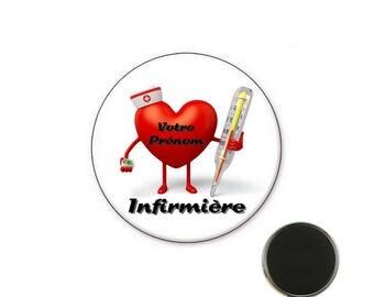 Personalized nurse magnet - Magnet 32 mm