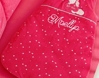 Baby girl sleeping bag with personalized