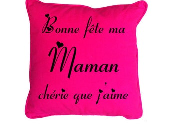 Custom text for mother's day pillow