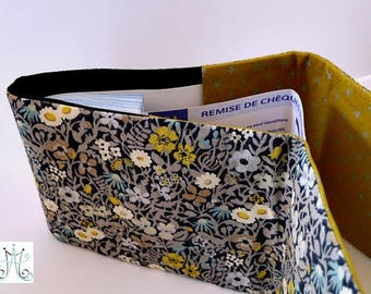 """""""Classic"""" checkbook - Liberty grey Fitzgerald and MSDS Olive Green"""