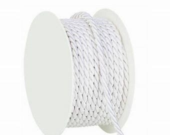 Thick white cord 4mm 10 m roll
