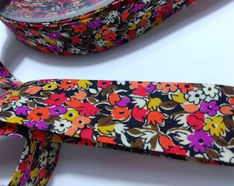 Soft quality liberty bias with small flowers - by 50 cm