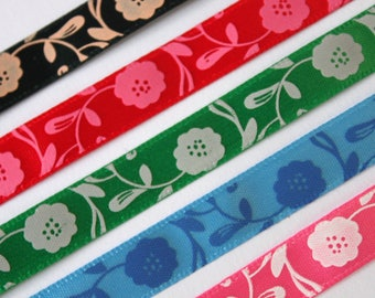 set of 5 matching ribbons