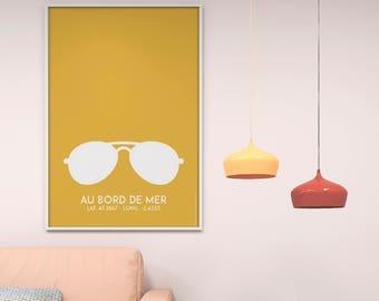 Poster poster yellow bezel