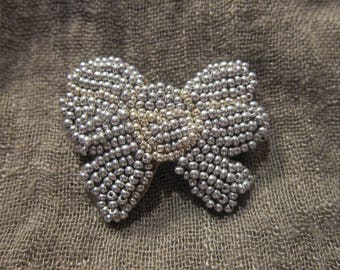 embroidered brooch bow