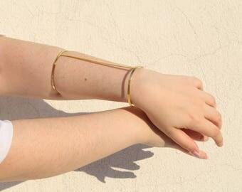 Brass Full Hand Bracelet