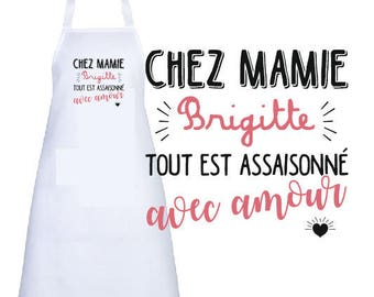 """ADULT apron personalized """"to Grandma..."""""""