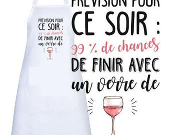 """ADULT apron personalized """"forecast for tonight"""""""