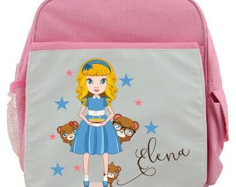 """BACKPACK CHILD """"GOLDILOCKS"""" PERSONALIZED WITH CHILD'S NAME"""