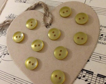 Set of 10 small BRONZE buttons