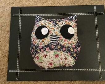 Navy Owl Plushy Toy