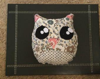 Patterned Owl Plushy Toy