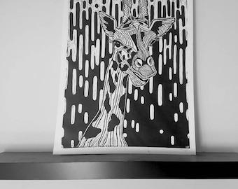 Handmade Giraffe Print