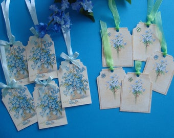 """Lots of tags on the theme of flowers: """"The Myosotis"""""""
