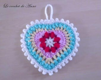Bohemian, adorned with a central hanging flower heart!