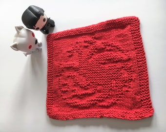Targaryen Sigil Popcloth: Game of Thrones/A Song of Ice and Fire Original Pattern Dishcloth/Washcloth
