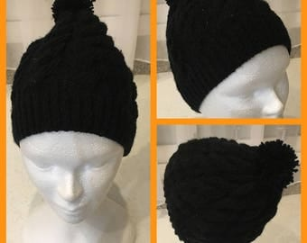 Mixed patterns cable Hat
