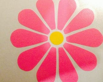 4x4 Flower Decal