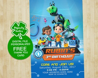 Rusty Rivets Invitation, Rusty Rivets Birthday, Rusty Rivets Party, Rusty Rivets Invitation Invite, Rusty Rivets