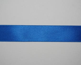 Satin Ribbon Double sided blue electric 1.5 cm x 1 meter