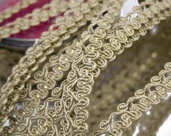 Stripe Lurex thread Gold 1.3 cm x 1 m