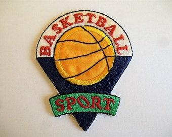 applique Basketball blue and yellow for customization patch patch clothing and accessories sport 9027.5