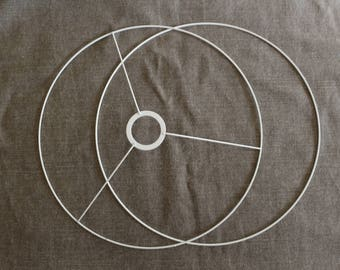 Set of circles 50cm for hanging or Lampshade circle head with ring + naked circle