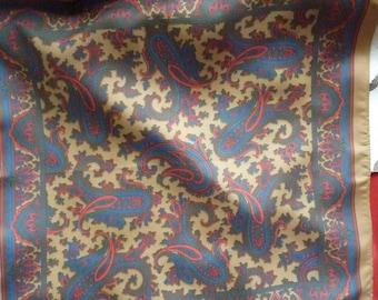 Red Blue Tan cashmere silk * 42 cm * BRUER