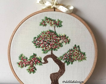 Embroidery Handmade Bonzai Tree