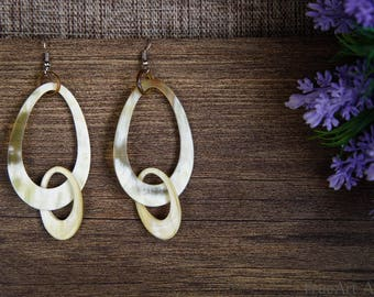 Handmade Buffalo Horn Earrings Horn Earrings Horn Jewelry Horn Accessories TA 26018