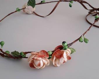Couronne headband romantique mariée
