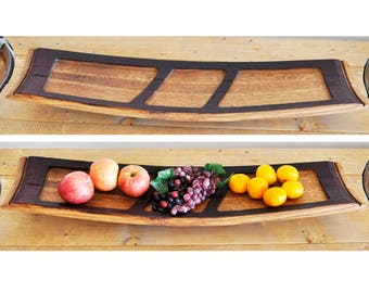Wine Barrel Stave Tray