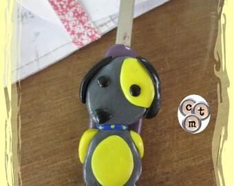 Quickly unpicks personalized dog kawaii yellow/gray