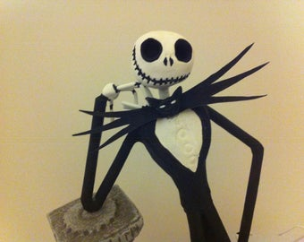 "JACK SKELLINGTON & ZERO figurine from Tim Burton's ""the nightmare before Christmas of Mr Jack"" (pattern 2)"