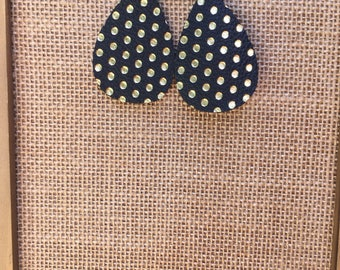 Black with Gold Dots