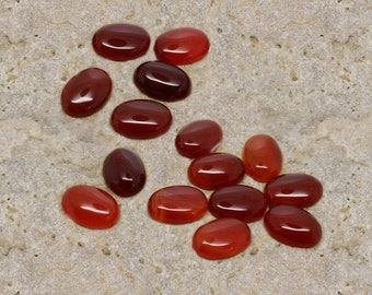 2 gemstone cabochon semi precious carnelian 13 X 18 mm