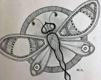 steampunk inspired dragon fly